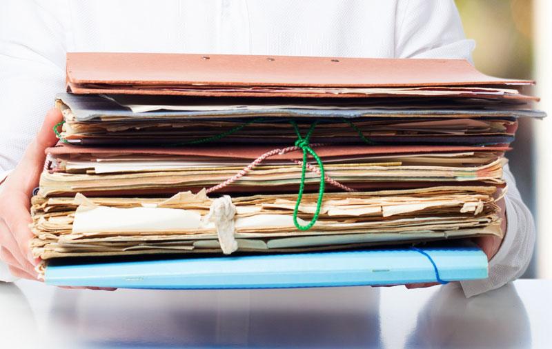 Folders of paperwork